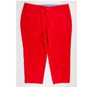 L.L. Bean Capri Pants Favorite FIt Coral Red 16P